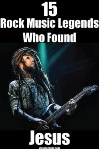 Here are 15 rock musicians who gave their life to Jesus Christ.