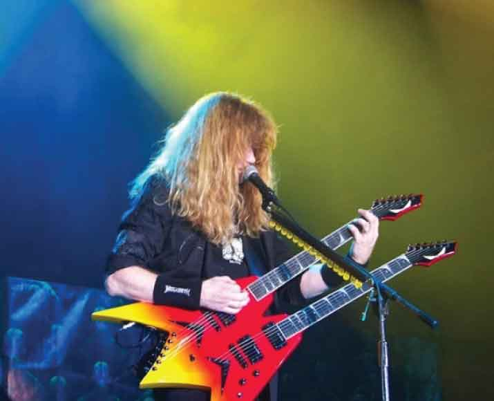 Dave Mustaine guitarist for Metallica and Megadeath