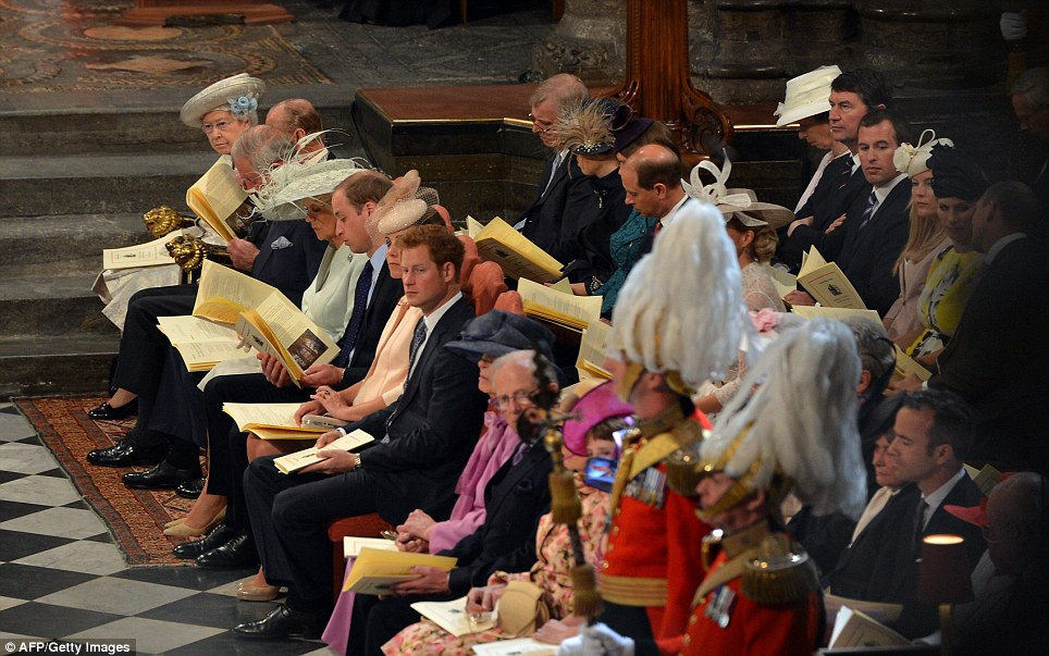 royal family at church