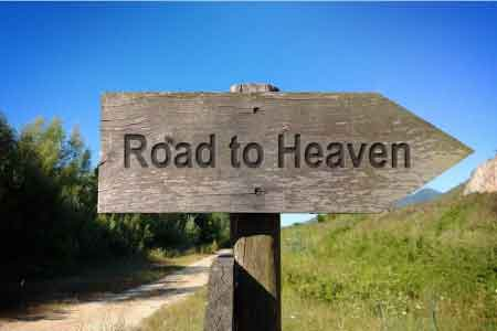 image of a guidepost pointing the way to heaven