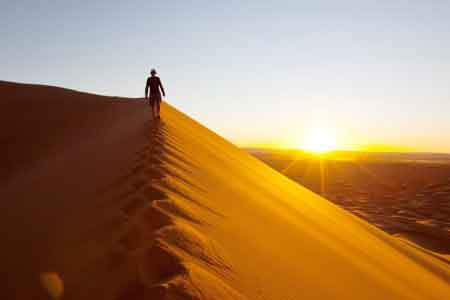 image of a person in the desert