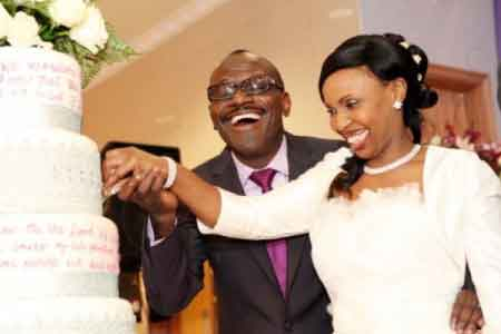 Image of a pastor and wife getting married